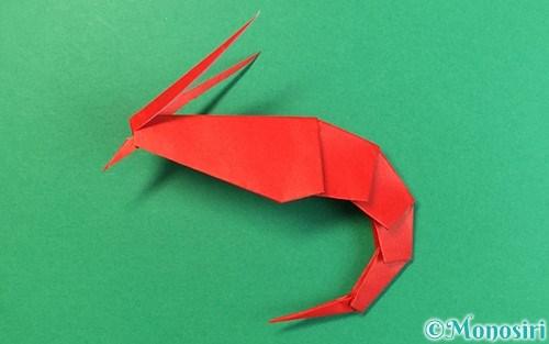 折り紙で折ったエビ