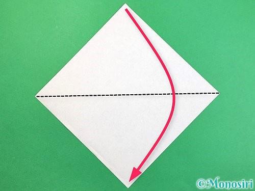 折り紙でサメの折り方手順1