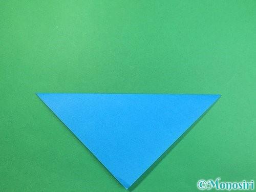 折り紙でサメの折り方手順2