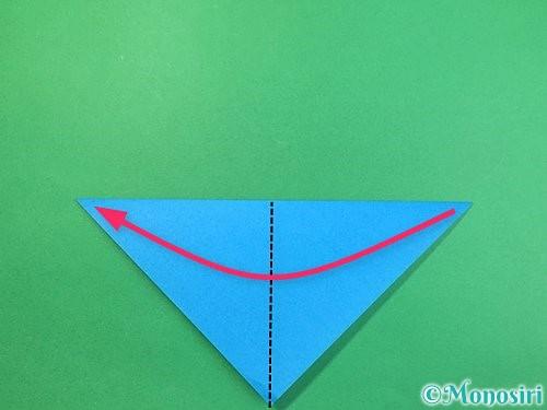 折り紙でサメの折り方手順3