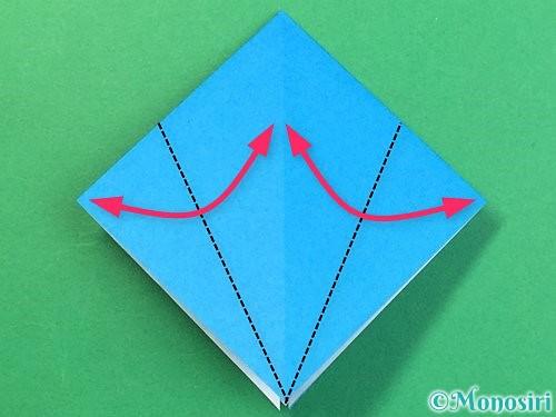 折り紙でサメの折り方手順10