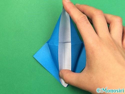 折り紙でサメの折り方手順15