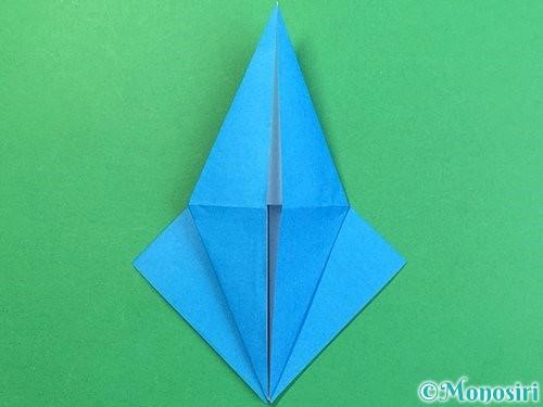 折り紙でサメの折り方手順16