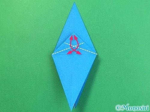 折り紙でサメの折り方手順20