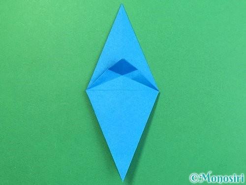 折り紙でサメの折り方手順21