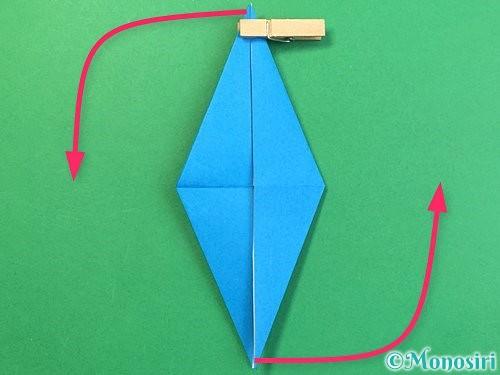 折り紙でサメの折り方手順25