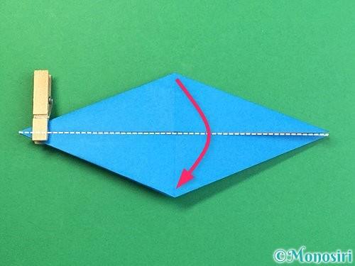 折り紙でサメの折り方手順27