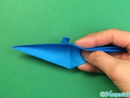 折り紙でサメの折り方手順28