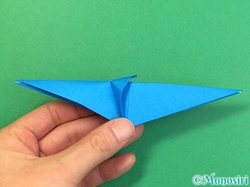 折り紙でサメの折り方手順29