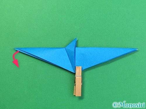 折り紙でサメの折り方手順31