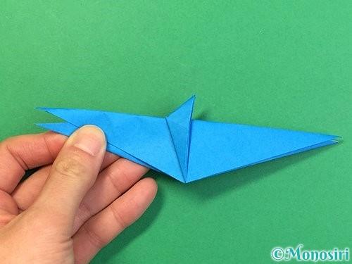 折り紙でサメの折り方手順32