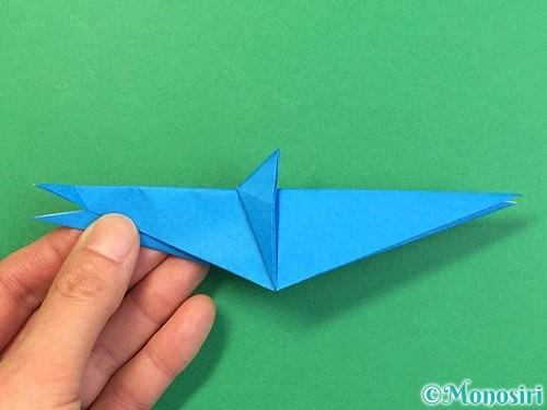 折り紙でサメの折り方手順34