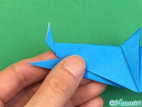 折り紙でサメの折り方手順38
