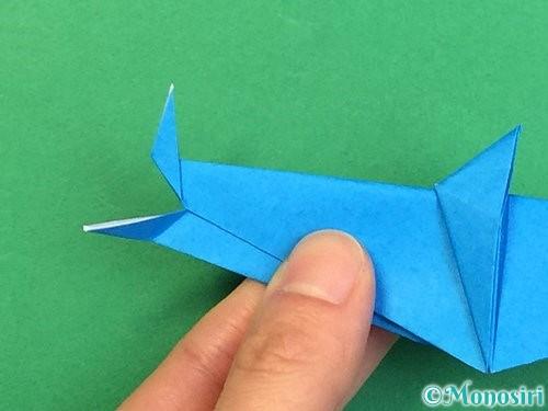 折り紙でサメの折り方手順40