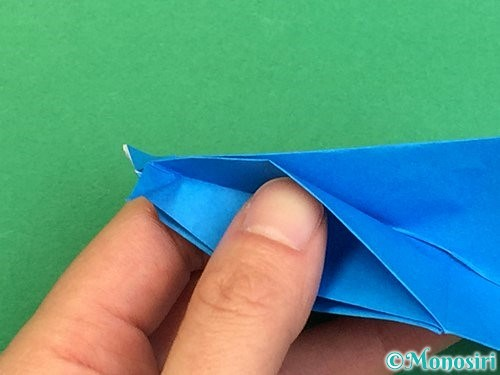 折り紙でサメの折り方手順43