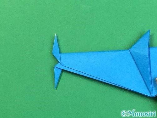 折り紙でサメの折り方手順44