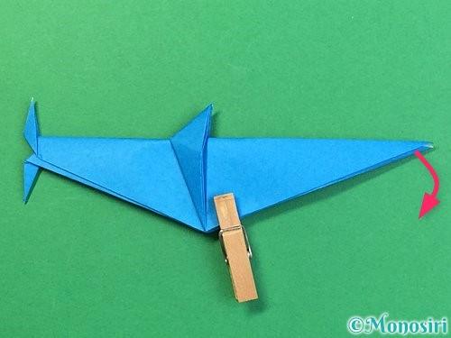 折り紙でサメの折り方手順45