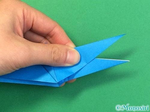 折り紙でサメの折り方手順46