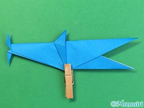 折り紙でサメの折り方手順47