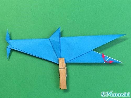 折り紙でサメの折り方手順48