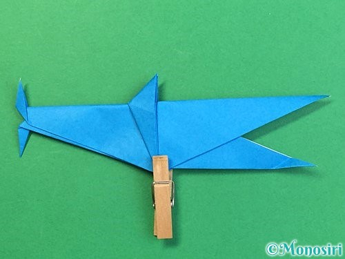 折り紙でサメの折り方手順49