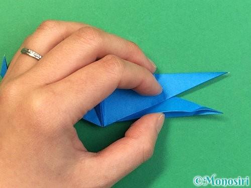 折り紙でサメの折り方手順50