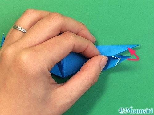 折り紙でサメの折り方手順51