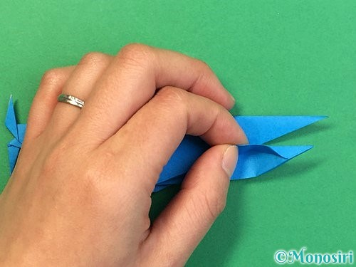 折り紙でサメの折り方手順52