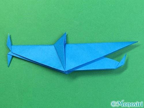 折り紙でサメの折り方手順53