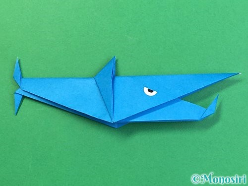 折り紙でサメの折り方手順54