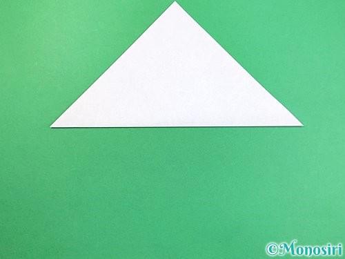 折り紙でイルカの折り方手順2