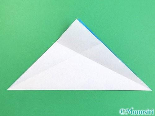 折り紙でイルカの折り方手順4