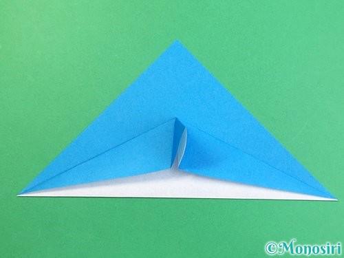 折り紙でイルカの折り方手順7