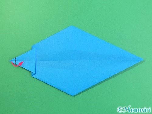 折り紙でイルカの折り方手順19