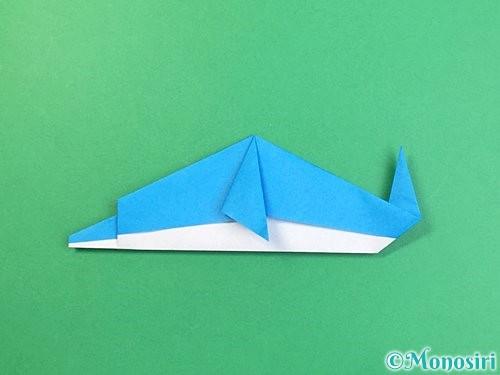 折り紙でイルカの折り方手順28