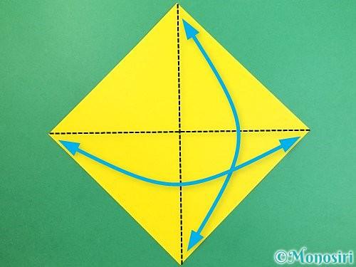 折り紙で熱帯魚の折り方手順1