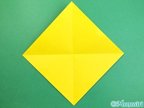 折り紙で熱帯魚の折り方手順2