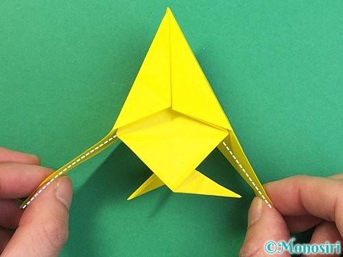 折り紙で熱帯魚の折り方手順41