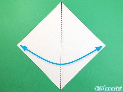 折り紙で鷲(鷹)の折り方手順1