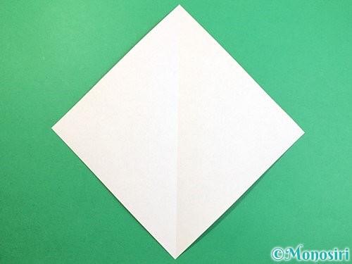 折り紙で鷲(鷹)の折り方手順2