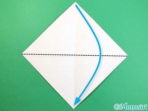 折り紙で鷲(鷹)の折り方手順3