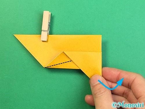 折り紙で鷲(鷹)の折り方手順11