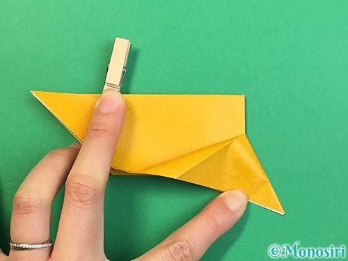 折り紙で鷲(鷹)の折り方手順12