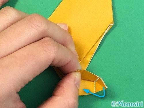 折り紙で鷲(鷹)の折り方手順20