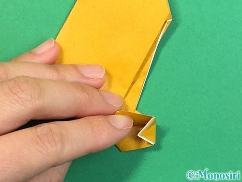 折り紙で鷲(鷹)の折り方手順21