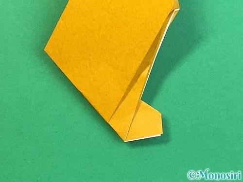折り紙で鷲(鷹)の折り方手順22