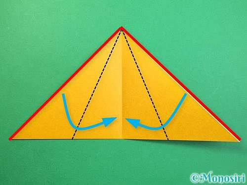 折り紙で鷲(鷹)の折り方手順28