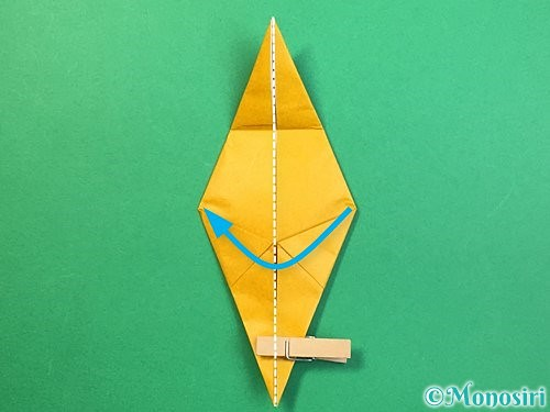 折り紙で鷲(鷹)の折り方手順34