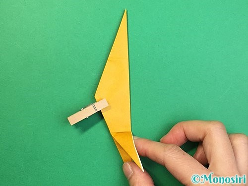 折り紙で鷲(鷹)の折り方手順38