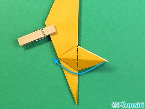 折り紙で鷲(鷹)の折り方手順41